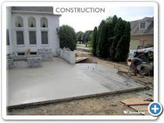 Next is the concrete pad
